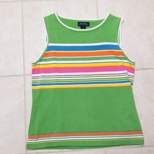 Summery sleeveless sweater top colorful